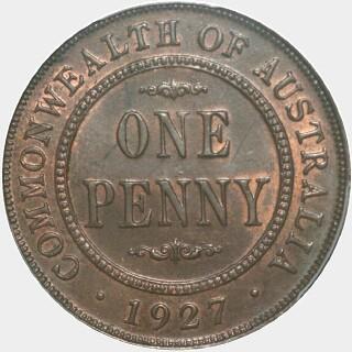 1927  Penny reverse