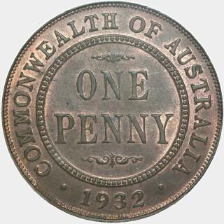 1932  Penny reverse