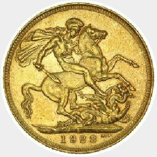 1914-S Proof Full Sovereign reverse