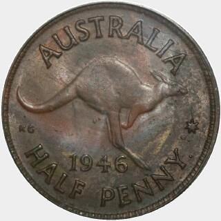 1946-Y  Half Penny reverse