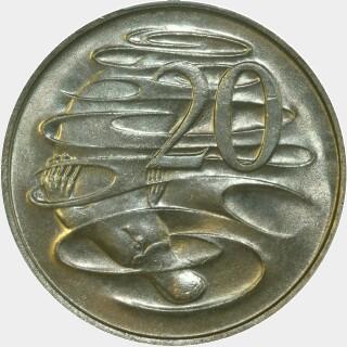1967  Twenty Cent reverse