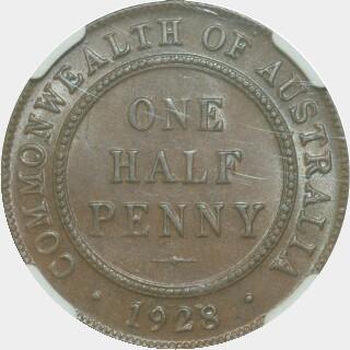 1928  Half Penny reverse