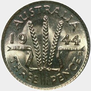 1944-S  Threepence reverse