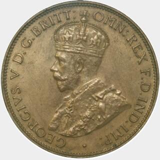 1934 Proof Half Penny obverse