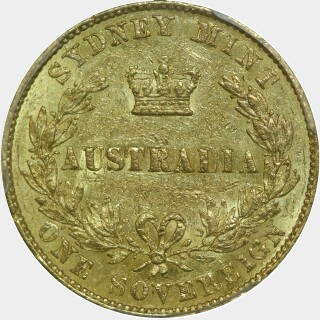 1858  Full Sovereign reverse