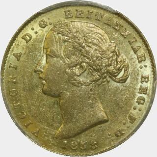 1858  Full Sovereign obverse