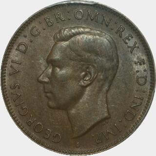 1942-I Long Reverse Denticles Half Penny obverse
