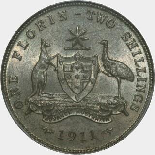 1911  Florin reverse