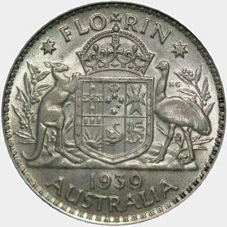 1939  Florin reverse