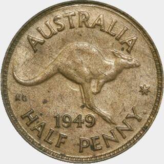 1949-Y  Half Penny reverse