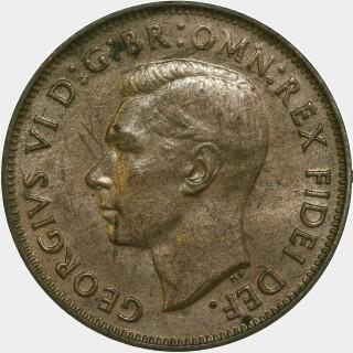 1949-Y  Half Penny obverse
