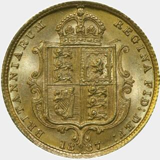 1887-S Wide JEB Half Sovereign reverse