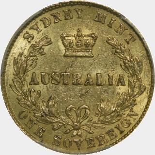 1861  Full Sovereign reverse