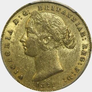 1861  Full Sovereign obverse