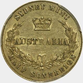 1866  Half Sovereign reverse