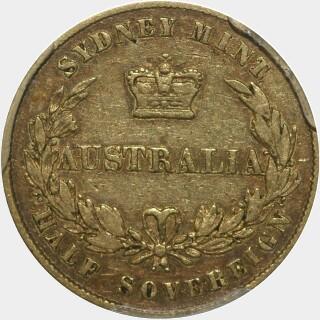 1857  Half Sovereign reverse