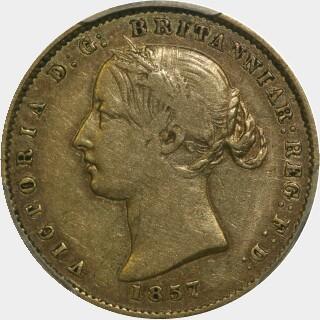 1857  Half Sovereign obverse