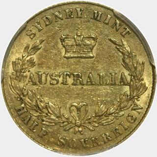 1862  Half Sovereign reverse