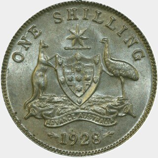 1928  One Shilling reverse