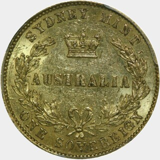 1862  Full Sovereign reverse