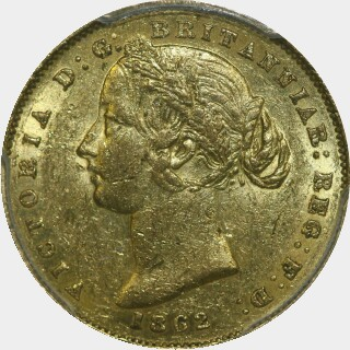 1862  Full Sovereign obverse