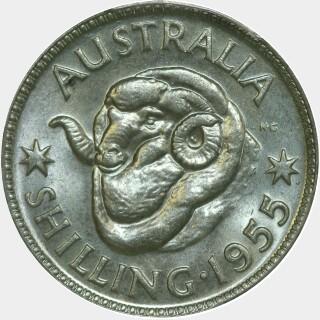 1955  Shilling reverse