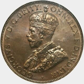1935 Proof Half Penny obverse