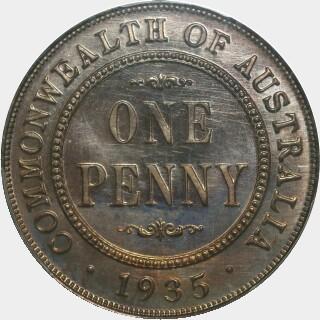 1935 Proof Penny reverse