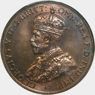 1935 Proof Penny obverse