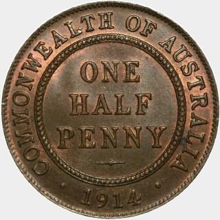 1914  Half Penny reverse