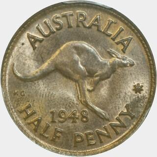 1948  Half Penny reverse