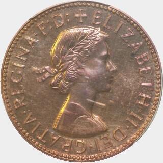 1959 Proof Half Penny obverse