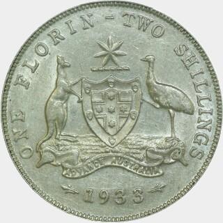 1933  Florin reverse