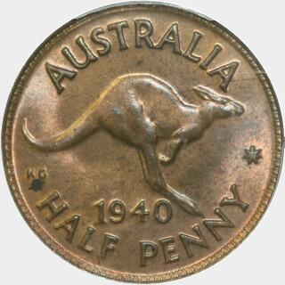 1940  Half Penny reverse