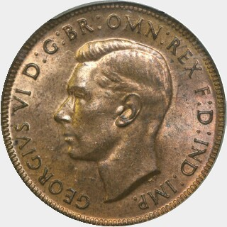 1940  Half Penny obverse