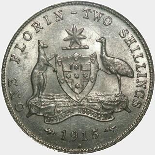 1915-H  Florin reverse