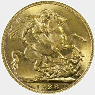 1928-M  Full Sovereign reverse