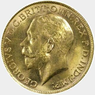 1928-M  Full Sovereign obverse