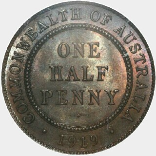 1919  Half Penny reverse