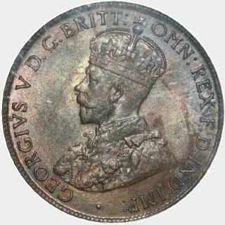 1919  Half Penny obverse