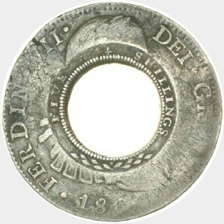 1813 1808 | Mexico City Holey Dollar reverse