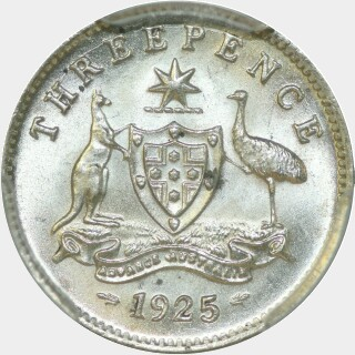 1925  Threepence reverse