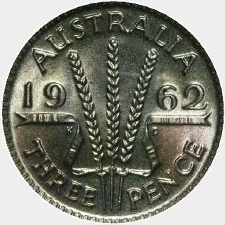 1962  Threepence reverse