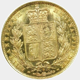 1882-S  Full Sovereign reverse