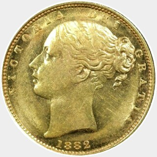 1882-S  Full Sovereign obverse