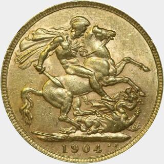 1904-P  Full Sovereign reverse