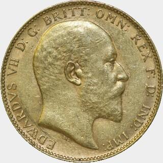 1904-P  Full Sovereign obverse