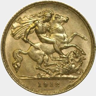 1912-S  Half Sovereign reverse