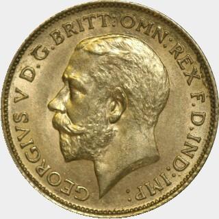 1912-S  Half Sovereign obverse