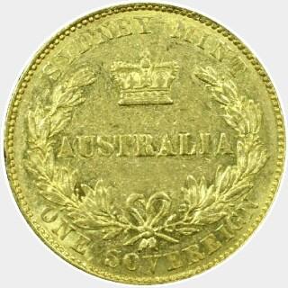 1855  Full Sovereign reverse